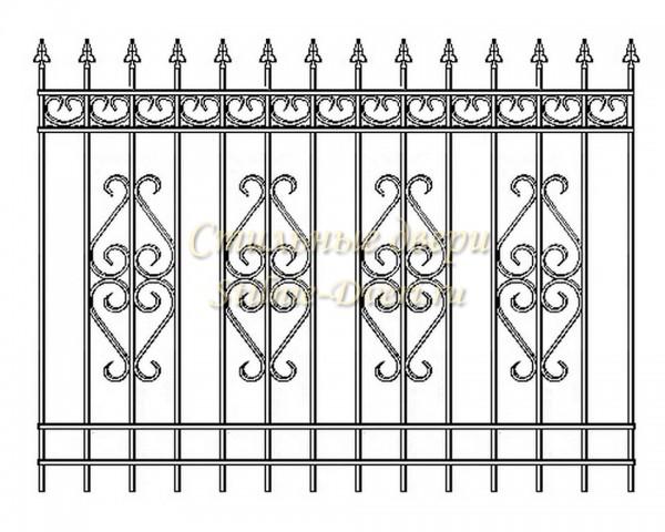 Забор из профтрубы с элементами ковки своими руками