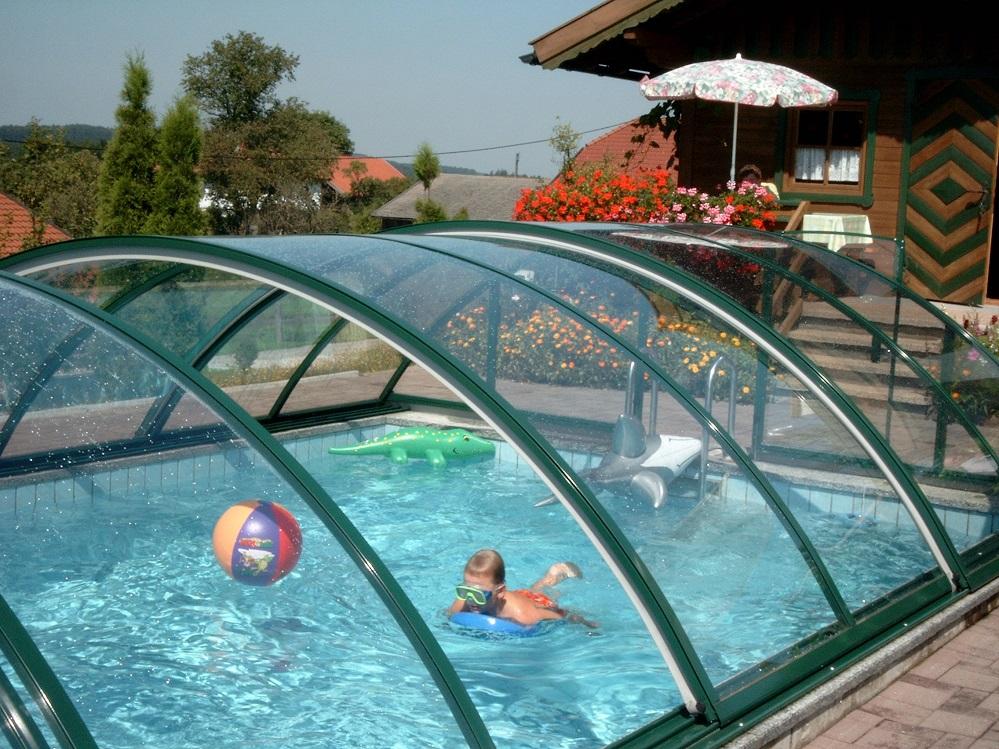 Как сделать навес для бассейна из поликарбоната своими 669