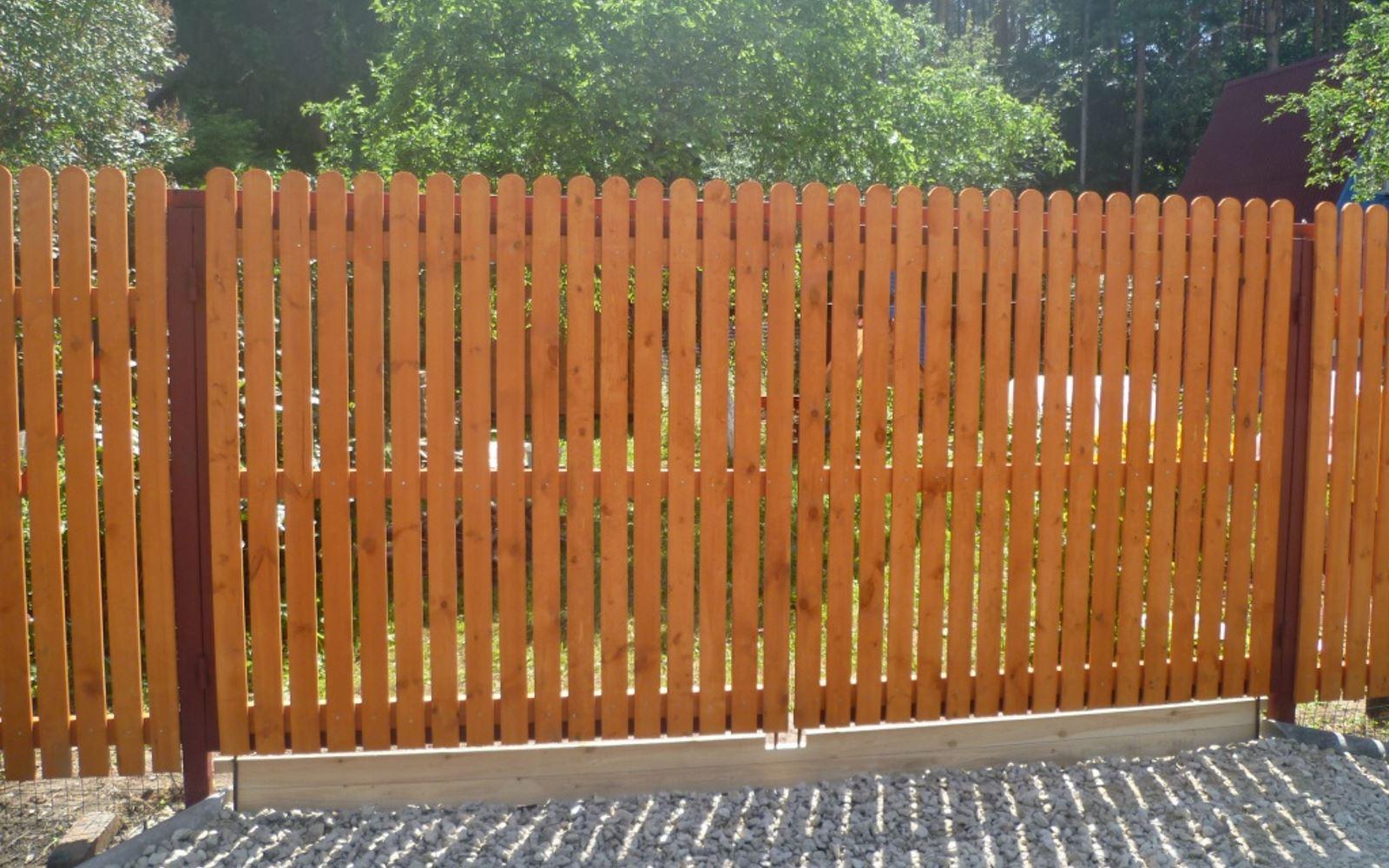 Ворота из деревянного штакетника, монтаж ворота из деревянного штакетника